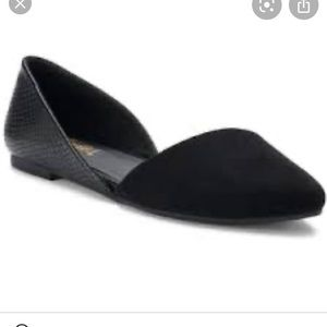 Candie's Snappea black D'orsay flat shoes